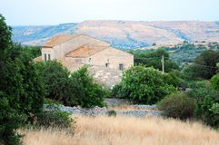 Exploração agrícola em Sicília fotos de stock