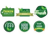 Exploração agrícola fresca, etiqueta do alimento biológico Imagens de Stock
