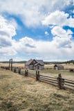 Exploração agrícola histórica do rancho de Colorado da herdade de Hornbeck Foto de Stock Royalty Free