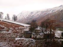 Exploração agrícola inglesa isolada no inverno Imagens de Stock Royalty Free