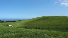 Exploração agrícola litoral do país Fotografia de Stock Royalty Free