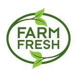 Exploração agrícola Logo Icon Symbol fresco Imagem de Stock Royalty Free