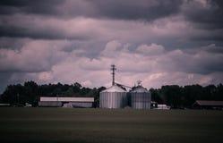 Exploração agrícola moderna Imagem de Stock