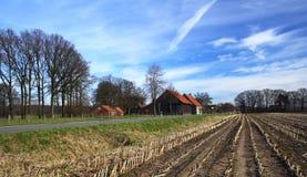 Exploração agrícola na mola imagens de stock