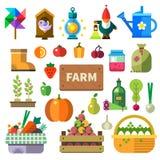 Exploração agrícola na vila Imagem de Stock Royalty Free