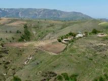 Exploração agrícola nas montanhas de Tajiquistão Imagens de Stock