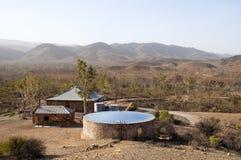 Exploração agrícola no deserto Fotos de Stock Royalty Free