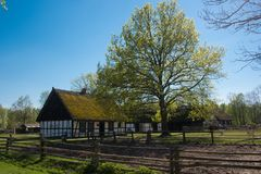 Exploração agrícola no Polônia Imagem de Stock