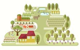 Exploração agrícola pequena ilustração stock