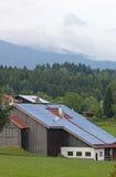 Exploração agrícola Photovoltaic Foto de Stock