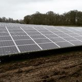 Exploração agrícola solar Imagem de Stock Royalty Free