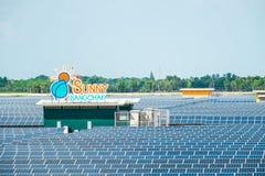 Exploração agrícola solar Imagens de Stock