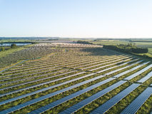 Exploração agrícola solar Foto de Stock