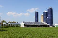 Exploração agrícola solar Canadá Imagens de Stock Royalty Free