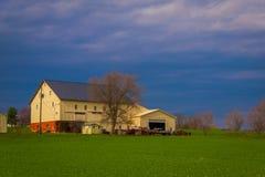 Exploração agrícola típica de Amish no condado de Lancaster em Pensilvânia EUA sem eletricidade fotos de stock royalty free