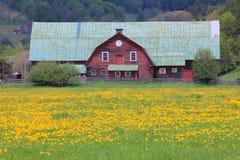 Exploração agrícola típica de Nova Inglaterra Imagens de Stock Royalty Free