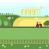 Exploração agrícola, terra, campos, ambiente saudável, produtos orgânicos, f Imagens de Stock Royalty Free
