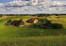 Exploração agrícola velha foto de stock