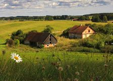Exploração agrícola velha fotografia de stock