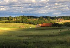 Exploração agrícola velha fotografia de stock royalty free