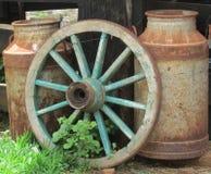 Exploração agrícola velha do leite Fotos de Stock