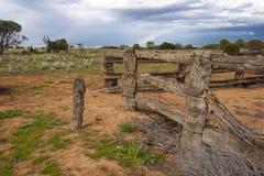 Exploração agrícola velha perto do Mungo do lago imagem de stock royalty free