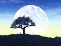 Exploração de Exoplanet 3D rendido Fotografia de Stock Royalty Free