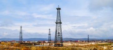 Exploração de gás do xisto Fotografia de Stock