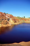 Exploração de mineração abandonada em Portugal. Foto de Stock