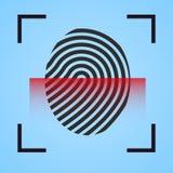 Exploração do ícone da impressão digital Foto de Stock