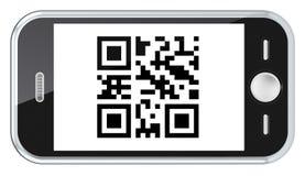 Exploração do código de QR. Imagens de Stock Royalty Free
