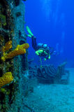 Exploração do Shipwreck Fotos de Stock