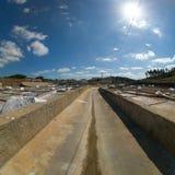 Exploração salina em Rio Maior - Portugal fotos de stock