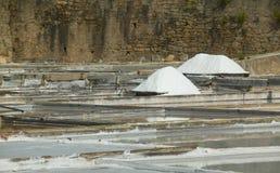 Exploração salina em Rio Maior - Portugal imagem de stock
