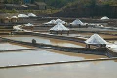 Exploração salina em Rio Maior - Portugal foto de stock