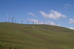 Explorações agrícolas do moinho de vento em Califórnia do norte Foto de Stock