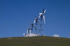 Explorações agrícolas do moinho de vento em Califórnia do norte Fotos de Stock
