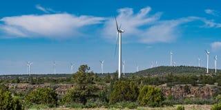 Explora??o agr?cola de vento da energia renov?vel fotos de stock