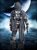 Exploración, astronauta marino del espacio que explora los nuevos mundos Foto de archivo libre de regalías