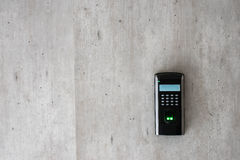 Exploración biométrica de un finger Imagen de archivo libre de regalías