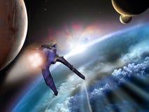 Exploración de espacio Foto de archivo