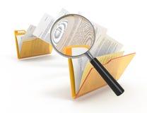 Exploración de ficheros de transferencia. Fotos de archivo libres de regalías