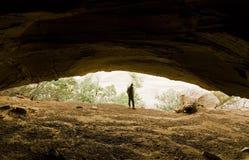 Exploración de la cueva Fotos de archivo libres de regalías