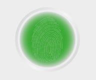 Exploración de la huella dactilar Imágenes de archivo libres de regalías