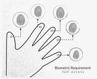 Exploración de la huella dactilar Imagen de archivo libre de regalías