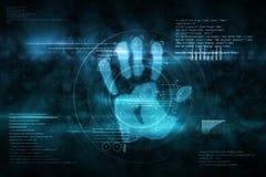 Exploración de la impresión de la mano de la seguridad de Digitaces