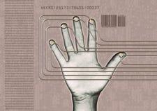 Exploración de la mano Imagenes de archivo