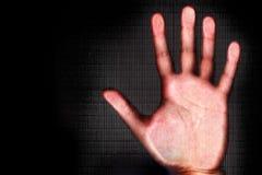 Exploración de la mano humana foto de archivo libre de regalías