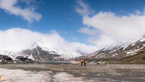 Exploración de la montaña Imagen de archivo
