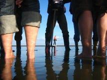 Exploración de los tidelands Fotografía de archivo libre de regalías